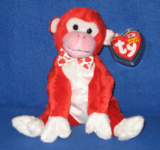 TY VALENTINE the MONKEY BEANIE BABY - MINT with MINT TAGS