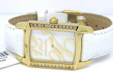 Pierre Cardin Ladies Gold Beaute Watch PC104182F02 Crystal Leather White