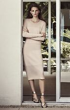 +NEW+ BCBG Bare Pink JANELLA Long-Sleeve Dress S $268 GTV69I11