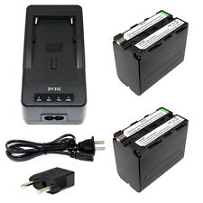 2PCS NP-F970 Battery+1Quick Rapid Charger for SONY MVC-FD90 FD91 HVR-HD1000 F960