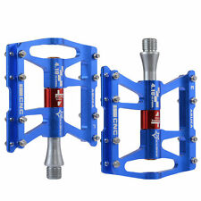 RockBro Cycling Pedals Mountain Bike Aluminum Alloy 4 Sealed Bearing Pedals Blue