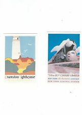AMERICAN RAILROADS A DALKEITHS SET OF 6 POSTCARDS FREE UK POSTAGE