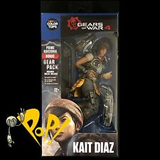 GEARS of WAR 4 Color Tops KAIT DIAZ Blue Action Figure McFARLANE Toys w/CODE!