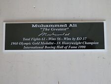 Muhammad Ali with Autograph Nameplate Autograph Boxing Gloves Photo