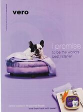 CESAR dog food 2007 ENGLISH BULLDOG puppy ad print photo clipping westie terrier