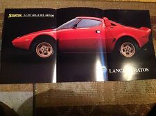 Raro Poster LANCIA STRATOS Rally anni' 80