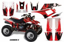 Yamaha Warrior350 AMR Racing Graphic Kit Wrap Quad Decals ATV All Years CARBON X
