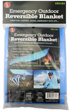 """51""""x82"""" Waterproof Double Sided Emergency Thermal Blanket Ground Cover & Shelter"""