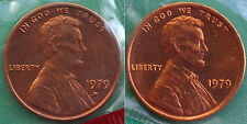 1979 P & D Lincoln Cent 2 Coin from US Mint Set UNC Cello One Cent Penny Set