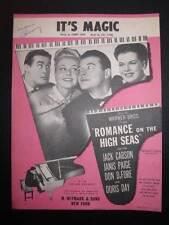 Its Music Sheet Music Vintage 1948 Romance On The High Seas Jule Styne Voice (O)