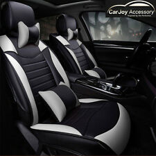 Black White leather Car Seat Covers Corolla Toyota Camry Rav4 Altise Aurion lux