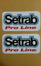 """2 pcs Setrab Pro Line Racing Decal Stickers NOS approx size 4 1/8"""" x 2 1/8"""""""