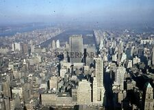 1956 New York City Areal View Manhattan Central Park Midtown Original 35mm Slide