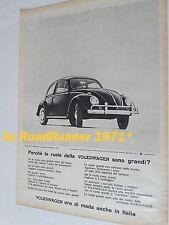 VOLKSWAGEN Maggiolino Käfer_Beetle_pubblicità originale#1963_advertising_werbung