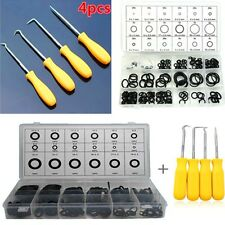 4pcs O Ring Pick Hooks Puller Remover with 225pcs O-ring Assortment Tool Set