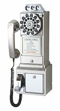 Pay Phone Classic Vintage Wall Telephone Coin Mount Retro Payphone Booth Push