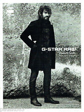 PUBLICITE ADVERTISING 066  2011  G-Star Raw  Vincent Gallo par Anton Corbijn