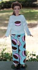 "Clothes for Curvy Barbie Doll. Pajamas ""cookies"" for Dolls."