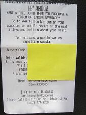 GREAT DEAL! Five Dunkin Donuts Donut with Beverage Purchase - No Expiration Date