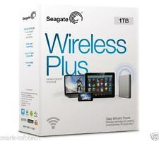 "1TB Seagate Wireless Plus Portable WIFI + USB 3.0 2.5"" Hard Disk Drive"