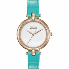Citizen Eco-Drive Women's EM0253-20A Silhouette Turquoise Strap Watch