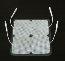 20 Electrode Pads EMS for Tens Massager 7000, 3000- Units 2x2 Inch White Cloth