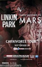 "LINKIN PARK / 30 SECONDS TO MARS ""CARNIVORES TOUR"" 2014 SAN DIEGO CONCERT POSTER"