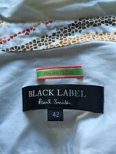 Women's paul smith black label blanc formel chemisier avec détails rrp £ 155 taille 42
