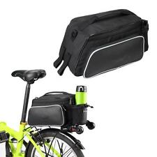 ROSWHEEL Outdoor Cycling Bicycle Bike Rear Rack Seat Bag Leather Pouch 10L TY