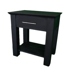 Hidden Compartment Nightstand- Diversion Safe- RFID Lock- Black Paint on Oak T2