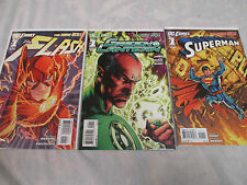 NEW 52 #1 lot of 3, 1st print, NM SUPERMAN, GREEN LANTERN PRINTING ERROR