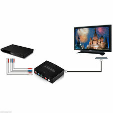 HDMI to 5RCA RGB Component YPbPr Video +R/L Audio Adapter Converter HD TV OE#