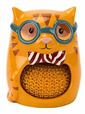 26915 Smarty Cat Scrubby Holder Kitchen Cleaning Dishes Orange Tabby Pet Friend