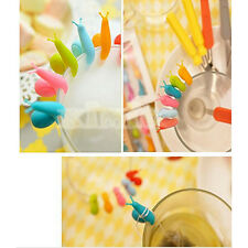Wholesale Silicone Glass Markers Snail Wineglass Label for Hanging Tea Bag