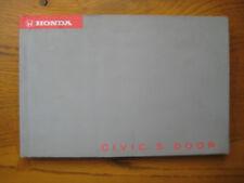 Honda Civic 5 Door Owners Handbook/Manual 94-98