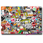 A4 Sheet Sticker Bomb Vinyl Wrap Car Bike Scooter Laptop Skate Cool Kids #0090