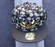 MARIJUANA GOLD MIND LOGO CAMO APPAREL MENS HAT SNAPBACK