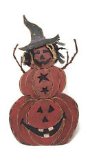 Halloween Decor Flashing Light Wooden Figure Pumpkin Witch Heaven Sends y612