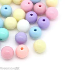 300PCs Candy Color Acrylic Spacer Beads Round Ball Mixed 8mm Dia.