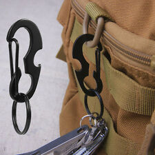 Practical D-ring Carabiner Quality Martensitic Stainless Steel Key Ring EDC Tool