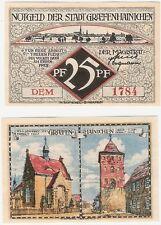 Germany 25 Pfennig 1921 Notgeld Graefenhainichen DEM AU-UNC Banknote