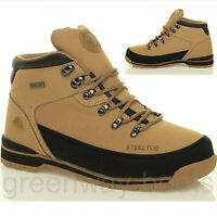 MENS GROUNDWORK SAFETY STEEL TOE CAP HIKING WORK SHOE TRAINERS BOOTS ANKLE LACE