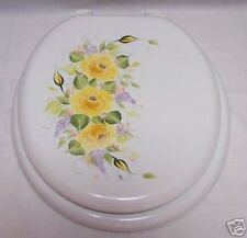 HP ROSES/TOILET SEAT/YELLOW/PEACH/LAVENDER/BY MB