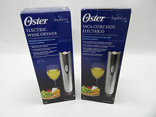 LOT OF 2 OSTER 4207 CORDLESS RECHARGABLE WINE BOTTLE OPENERS