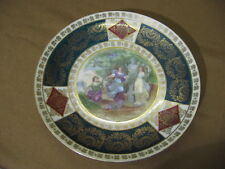 """Early 20th Century Austrian Porcelain Plate With Classical Scene 8 3/8"""""""