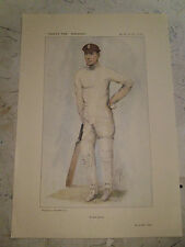 VANITY FAIR PRINT CRICKET A TESTED CENTURION JOHN HOBBS UK POSTAGE