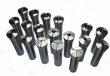 RDGTOOLS 18PC R8 COLLET SET 2-20MM FOR BRIDGEPORT METRIC COLLETS MILLING TOOLS