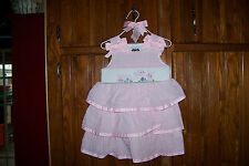 NWT MUD PIE BUNNY SMOCKED DRESS 3T EASTER!
