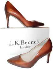 $350 L.K. Bennett 'FLORET' Pump Patent Leather Shoe Heel 5.5 -36 Pointy Toe