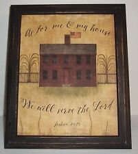 """UNFRAMED Primitive 8 x 10"""" Print Saltbox House Decor Picture Country Gift Idea"""